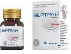 Вертран: таблетки